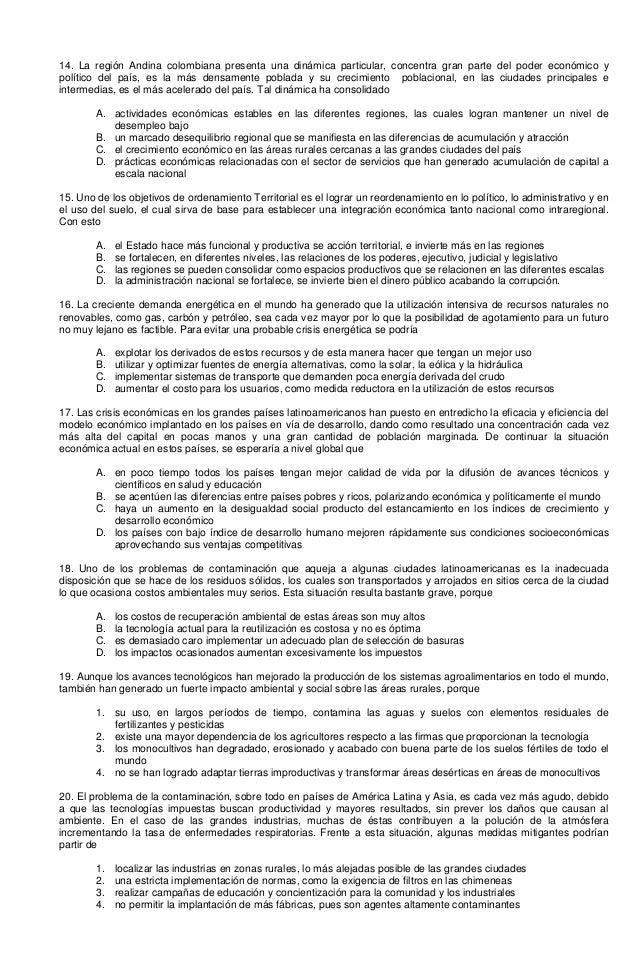 14. La región Andina colombiana presenta una dinámica particular, concentra gran parte del poder económico y político del ...