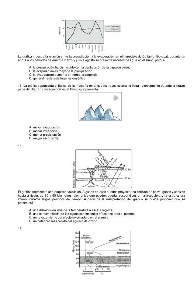 La gráfica muestra la relación entre la precipitación y la evaporación en el municipio de Duitama (Boyacá), durante un año...