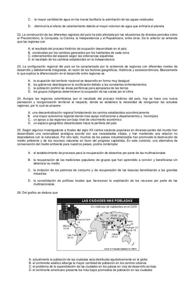 Preguntas tipo ICFES Geografia