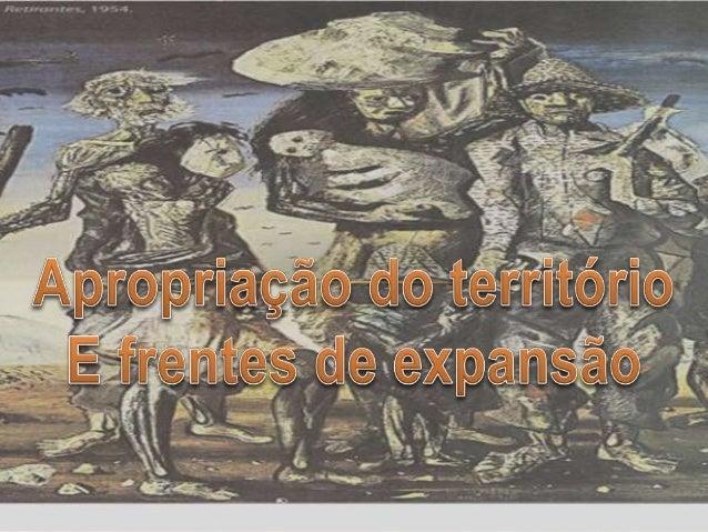 A EXPANSÃO DO TERRITÓRIO E AS MIGRAÇÕES  • A descoberta do outro e o desenvolvimento da mineração nas regiões  de Minas, G...