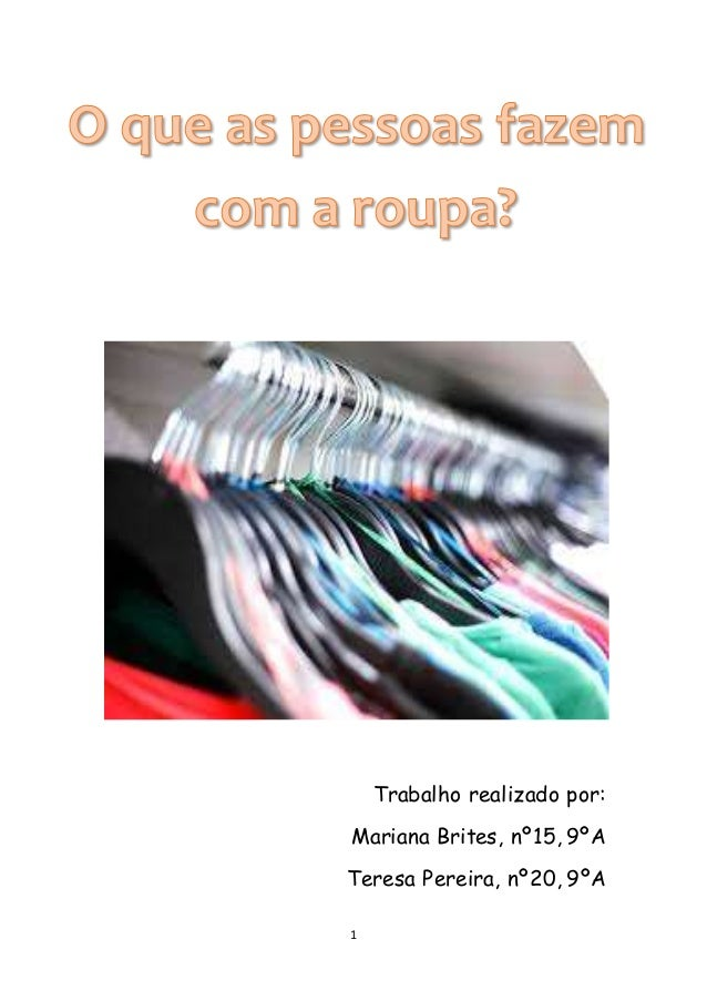 1 Trabalho realizado por: Mariana Brites, nº15, 9ºA Teresa Pereira, nº20, 9ºA