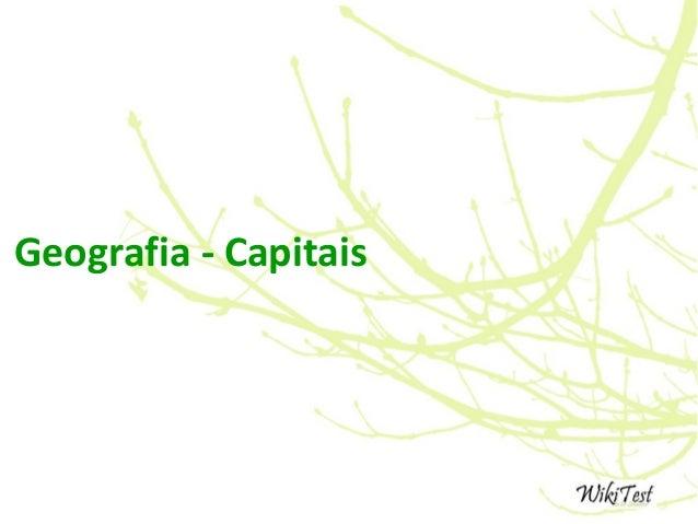 Geografia - Capitais