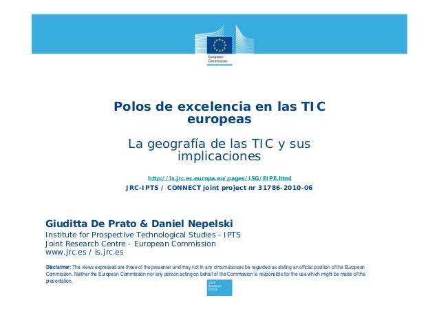 Giuditta De Prato & Daniel Nepelski Institute for Prospective Technological Studies - IPTS Joint Research Centre - Europea...