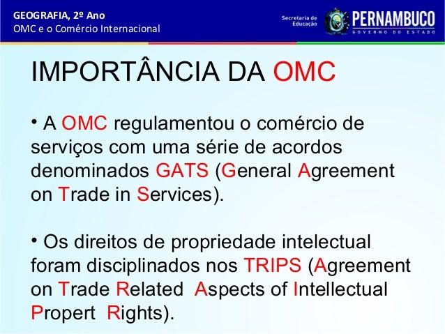 Geografia omc e o comercio internacional for Comercio exteriro