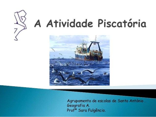 Agrupamento de escolas de Santo António . Geografia A. Profª Sara Fulgêncio.
