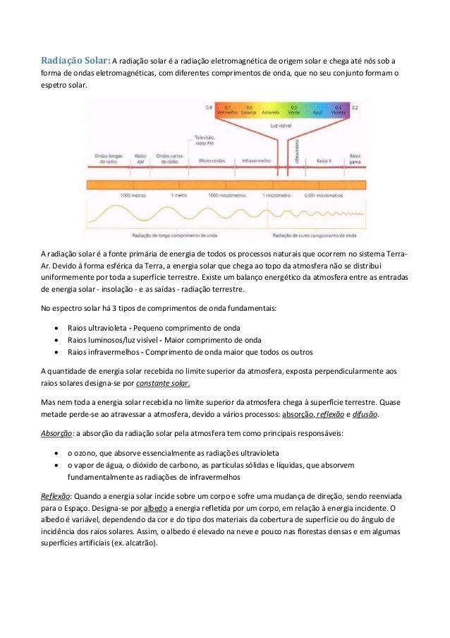 Geografia A 10 ano - Radiação Solar Slide 2