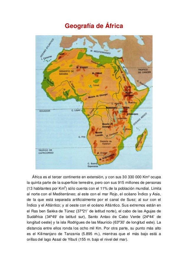 geografia africa