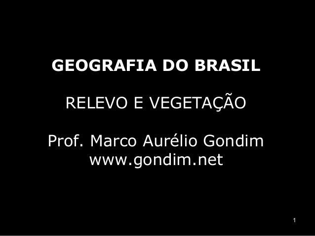 GEOGRAFIA DO BRASIL  RELEVO E VEGETAÇÃOProf. Marco Aurélio Gondim      www.gondim.net                             1