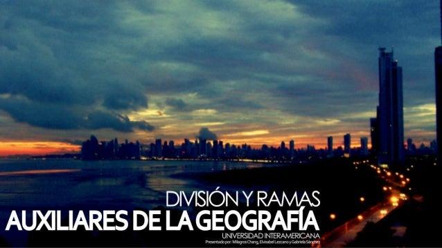 Division y ramas de la geografia