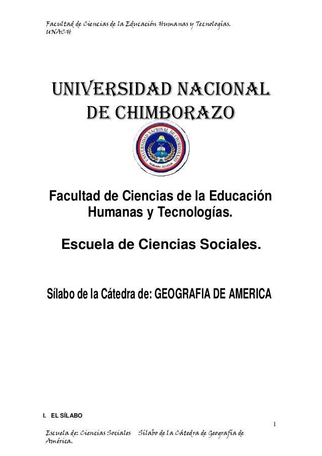 Facultad de Ciencias de la Educación Humanas y Tecnologías. UNACH Universidad Nacional de Chimborazo Facultad de Ciencias ...