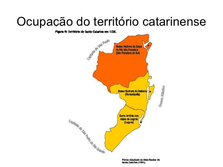 Ocupação do território catarinense