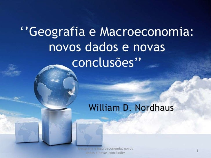 Geografia e Macroeconomia: novos dados e novas conclusões<br />1<br />''Geografia e Macroeconomia: novos dados e novas con...