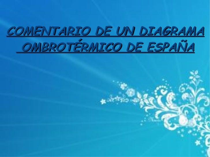 COMENTARIO DE UN DIAGRAMA OMBROTÉRMICO DE ESPAÑA