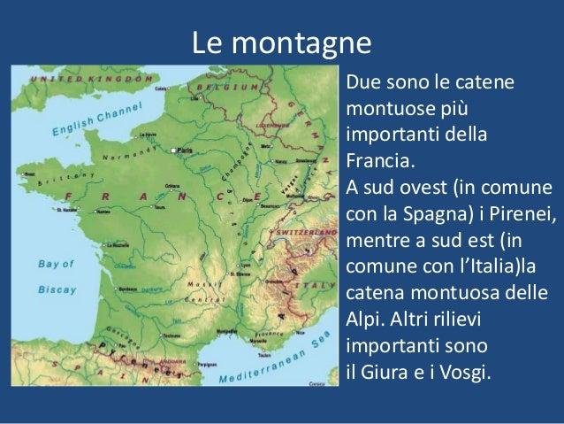 Cartina Fisica Francia Montagne.La Francia Fisica Lessons Tes Teach