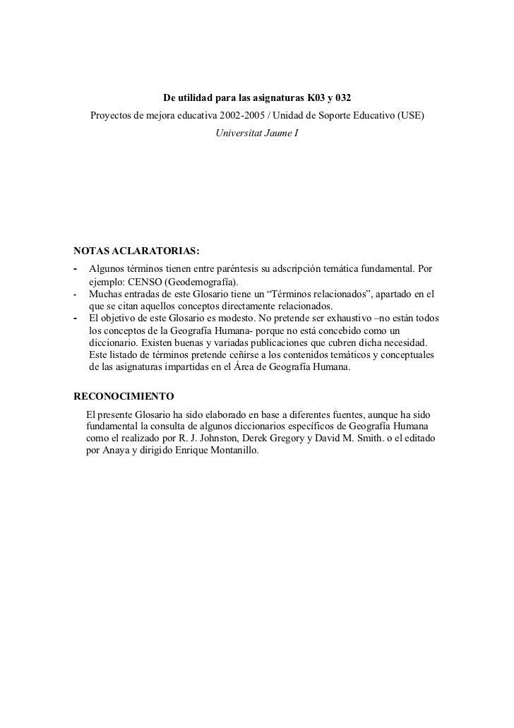 De utilidad para las asignaturas K03 y 032     Proyectos de mejora educativa 2002-2005 / Unidad de Soporte Educativo (USE)...