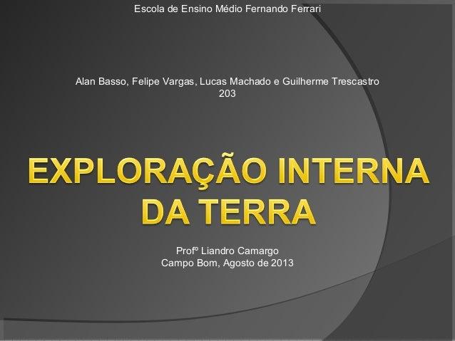 Escola de Ensino Médio Fernando Ferrari Alan Basso, Felipe Vargas, Lucas Machado e Guilherme Trescastro 203 Profº Liandro ...