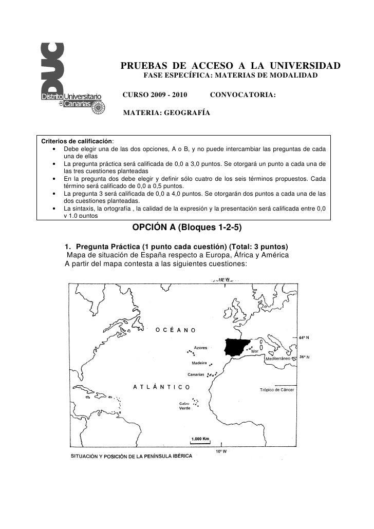 PRUEBAS DE ACCESO A LA UNIVERSIDAD                                      FASE ESPECÍFICA: MATERIAS DE MODALIDAD            ...