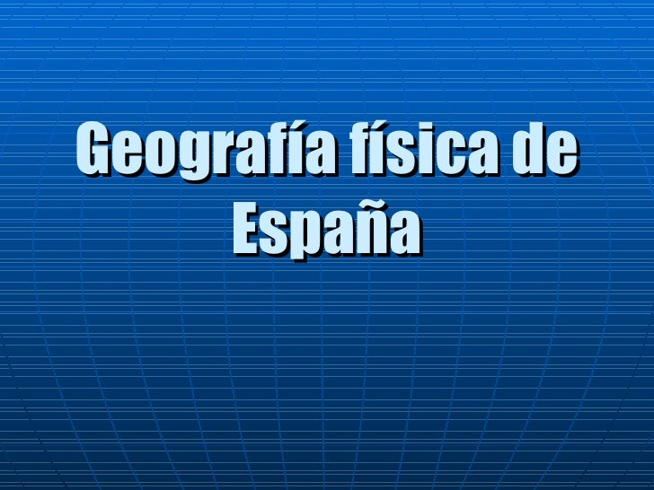 Geografía física de España
