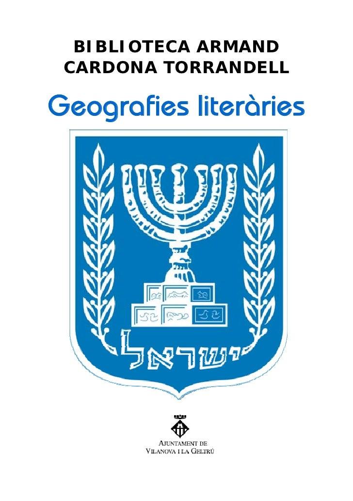 BIBLIOTECA ARMAND  CARDONA TORRANDELL  Geografies literàries