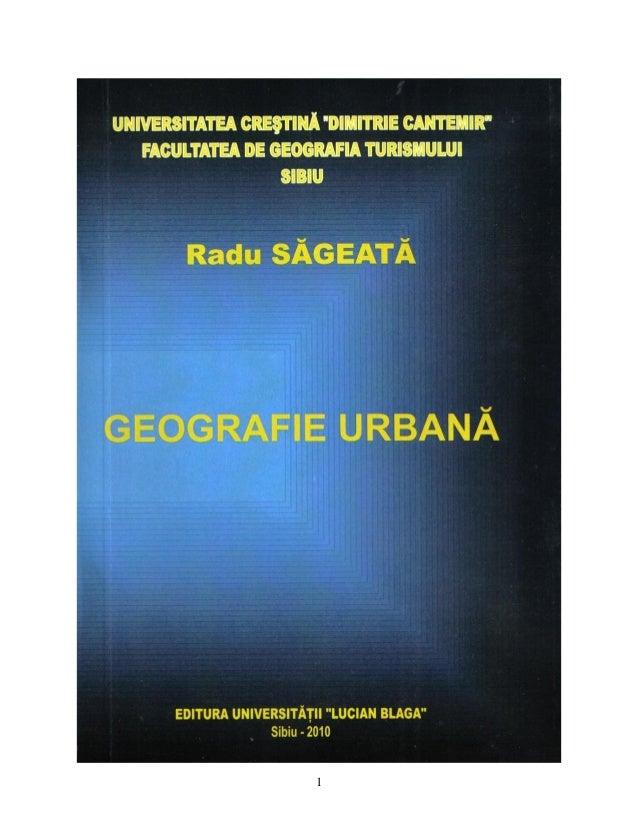 Geografie Urbana