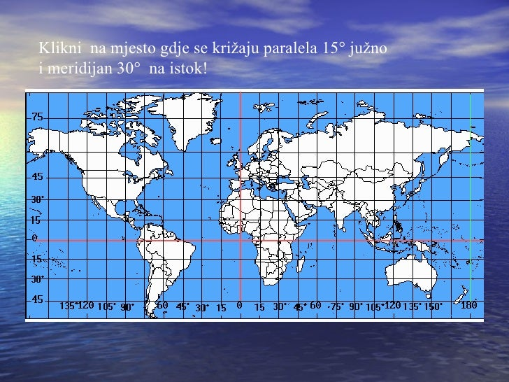 karta sveta sa meridijanima i paralelama Geografska Mreza karta sveta sa meridijanima i paralelama