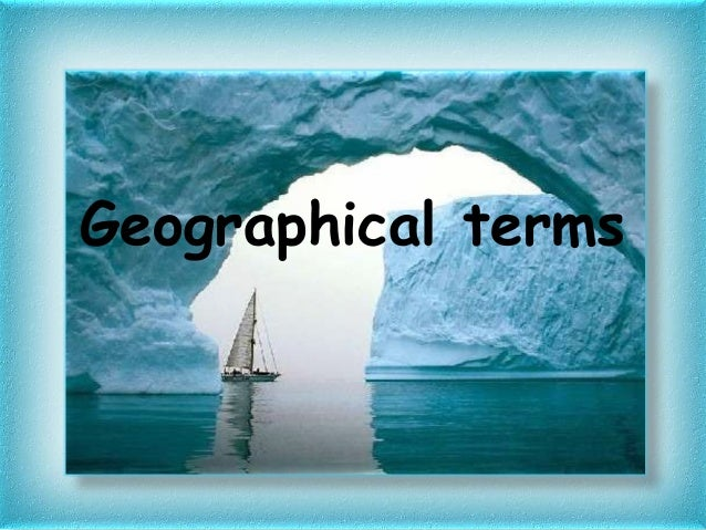 Geographical terms