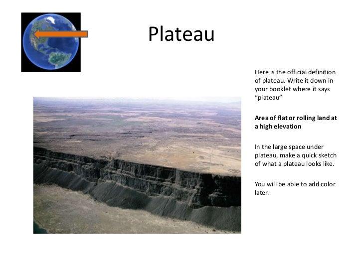 Geographic dictionary - Definition d un plateau ...