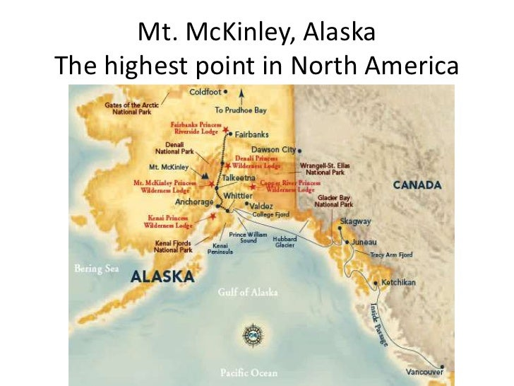Geographic Features Of The Western United States - Mt mckinley on us map