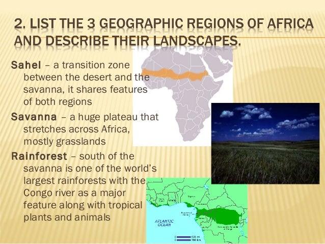 Geographic Regions Of Africa - Regions of africa