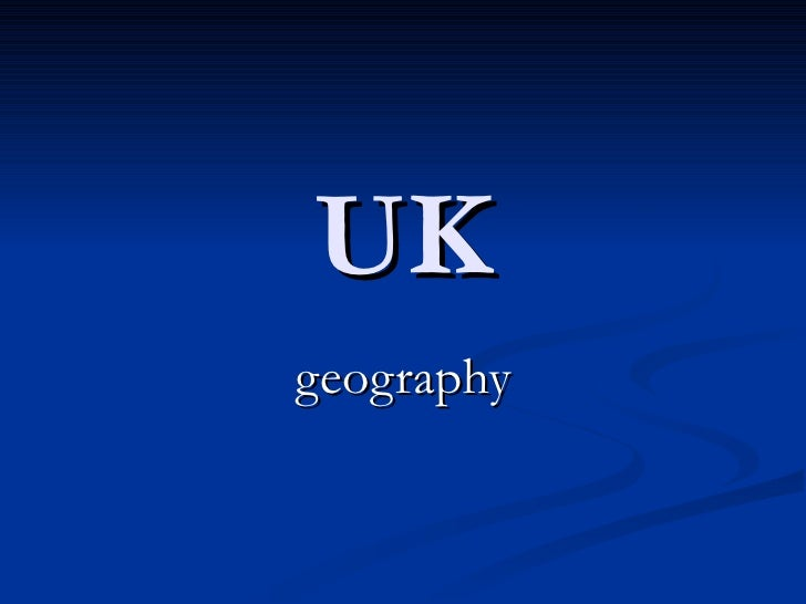 UK geography