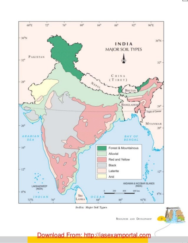 Geography 10th ncert 10 9resources and development india major soil types download from thecheapjerseys Images