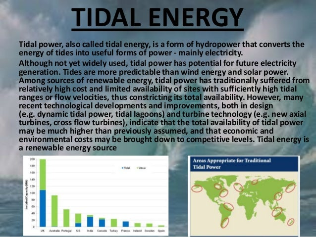 Ppt on water tidal energy is a renewable energy source 26 sciox Image collections