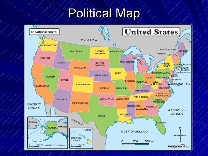 What Is A Political Map In Geography.Geography Different Kinds Of Maps