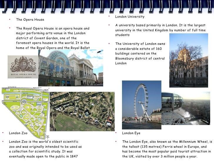 ●                                                             London University     ●         The Opera House             ...