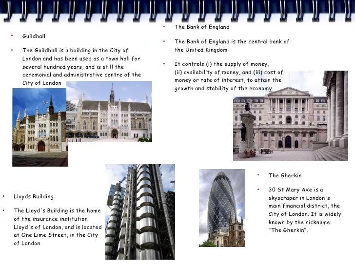 ●                                                              The Bank of England     ●            Guildhall             ...