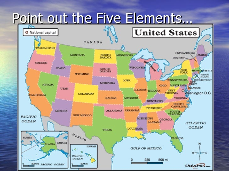 Map Elements - Picture of a map