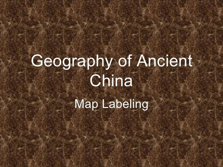 Geography of Ancient China Map Labeling