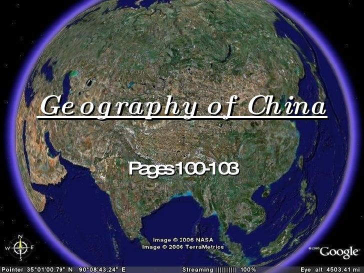 Geography of China Pages 100-103