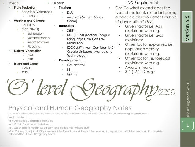 Ib geography higher level notes