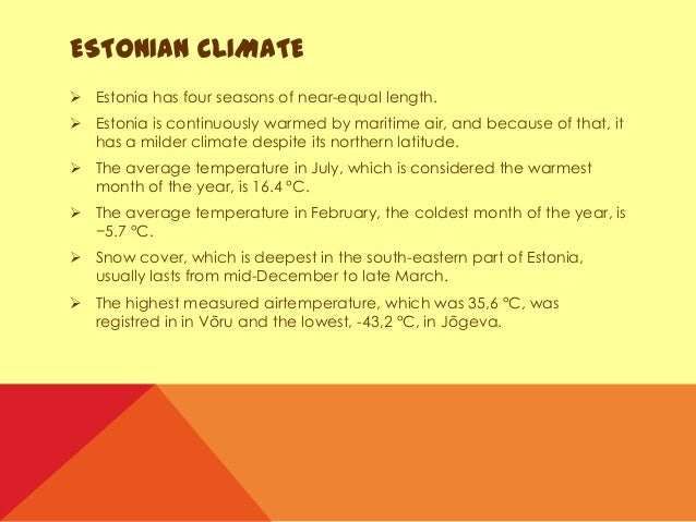 Image Gallery estonia climate