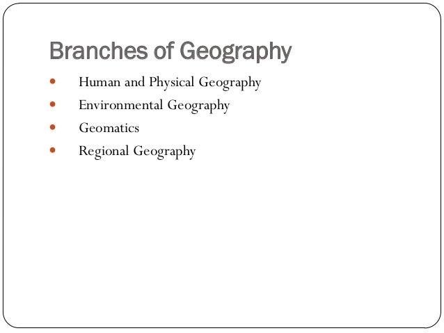 Geographers study plants