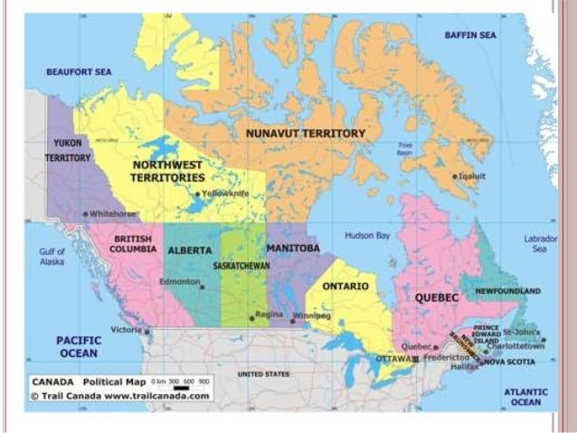 Geography Of Canada - Geography map of canada