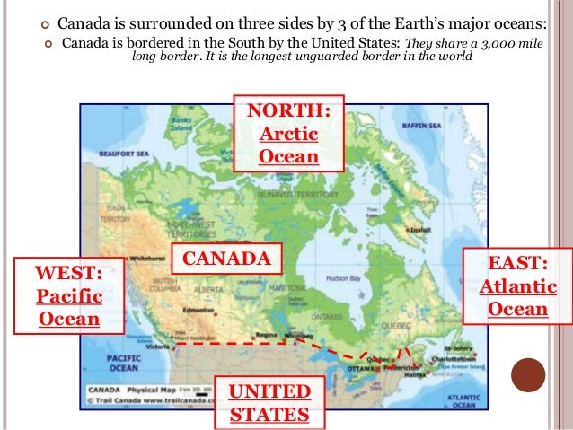 geography of Canada.
