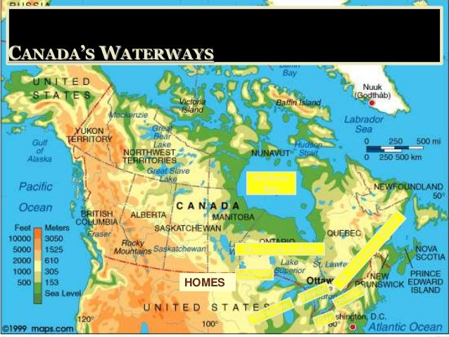 Geography Of Canada - Canada map geography