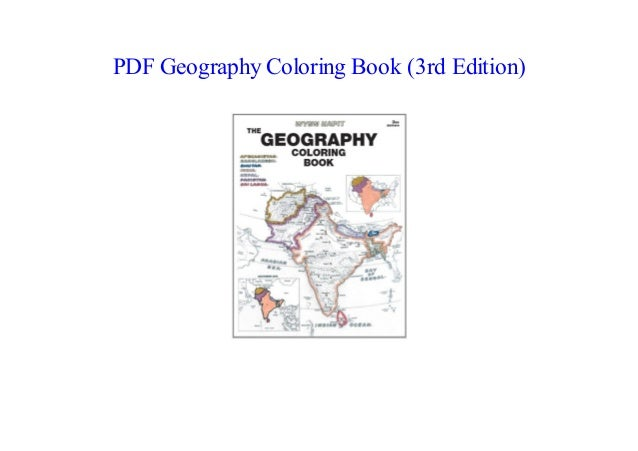 PDF] Geography Coloring Book (3rd Edition) NEW 2018