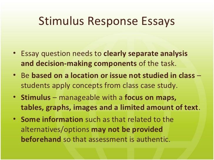 response essay writing