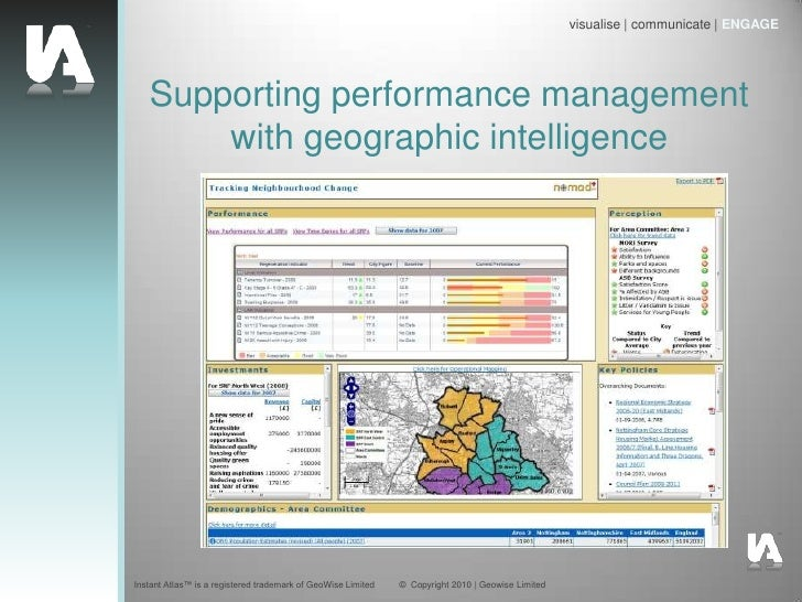 Supporting performance management with geographic intelligence<br />