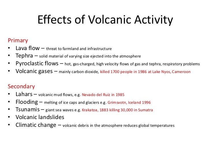 positive impacts of volcanic activity essay The volcano has been active off and on for thousands of years the most recent period of activity began in 1995, and continues to this day  the soufriere hills volcano erupting on the.