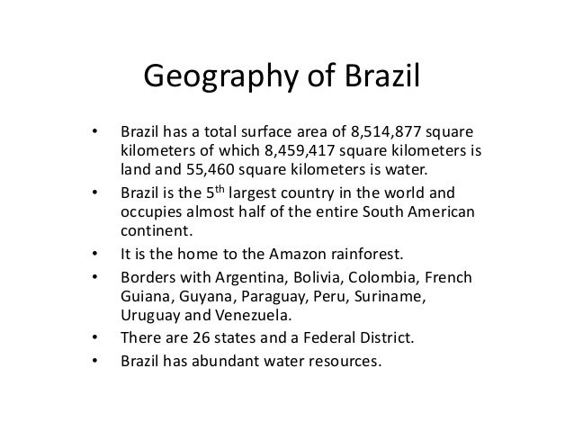 Economic Geography of Brazil