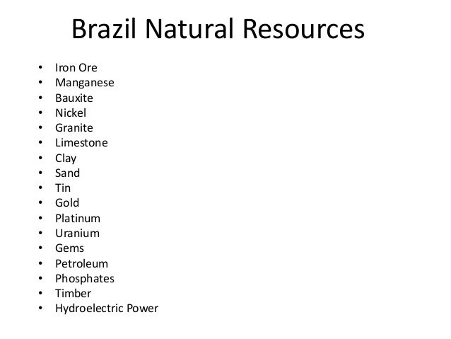Uruguay Natural Resources